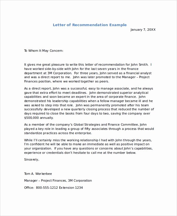 Template Sample Letter Of Recommendation Unique Sample Re Mendation Letters 8 Examples In Pdf Word