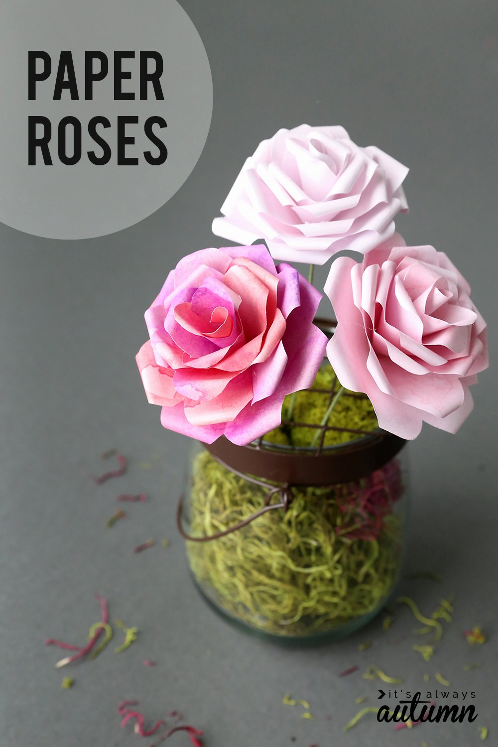 Templates for Paper Flowers Awesome Make Gorgeous Paper Roses with This Free Paper Rose