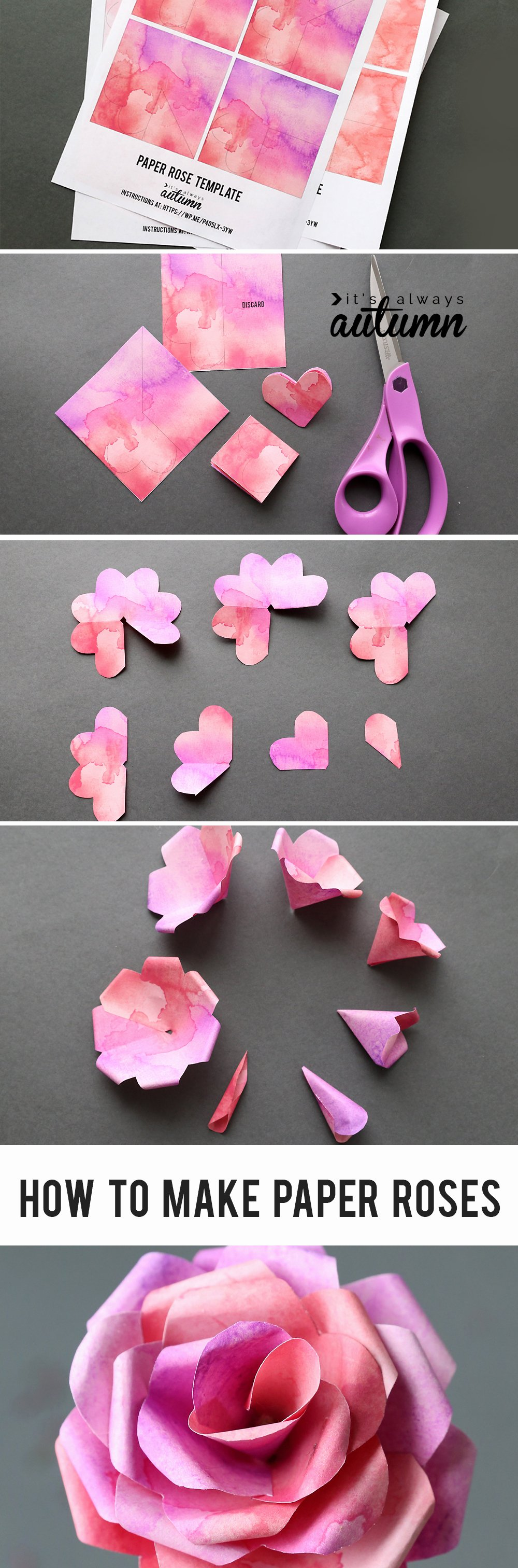 Templates for Paper Flowers Best Of Make Gorgeous Paper Roses with This Free Paper Rose
