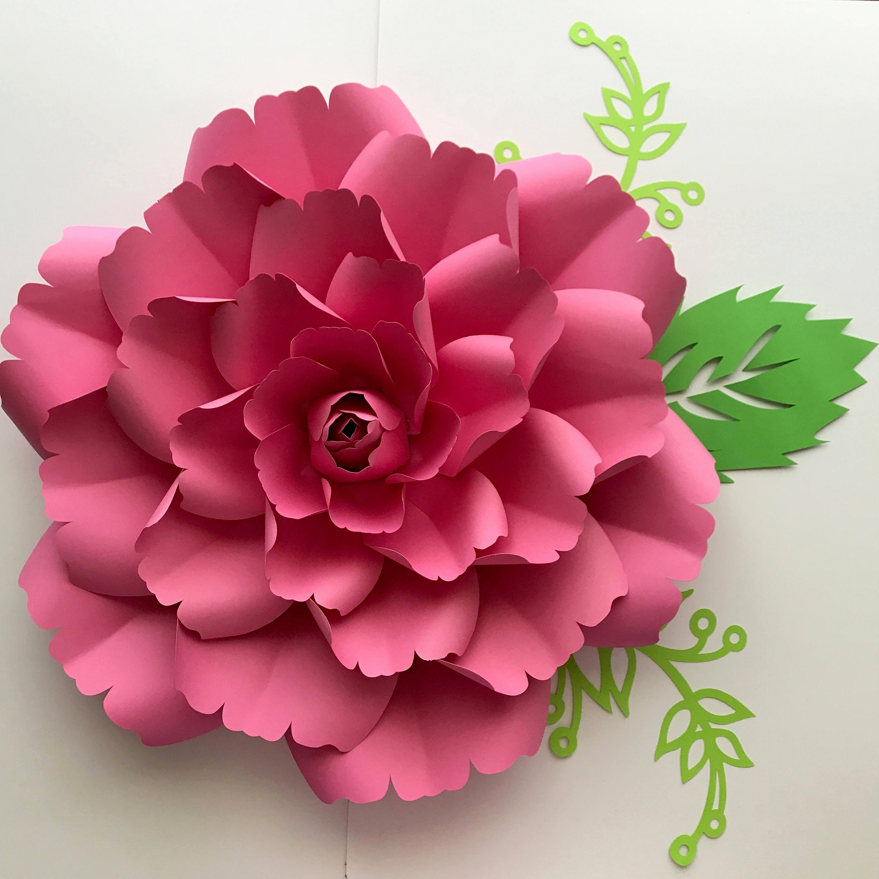 Templates for Paper Flowers Best Of Pdf Paper Flower Template with Center Digital Version