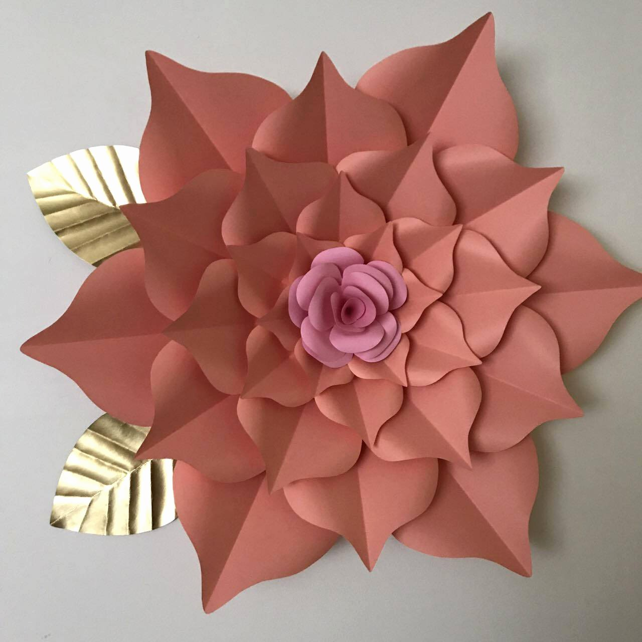 Templates for Paper Flowers Inspirational Pdf Paper Flower Template Digital Version Including the Base