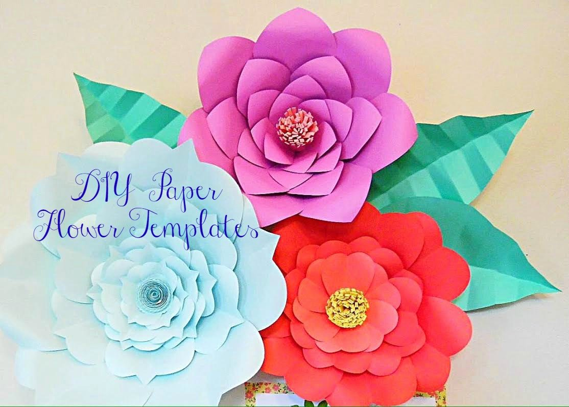 Templates for Paper Flowers New Giant Paper Flower Templates Diy Backdrop Flowers