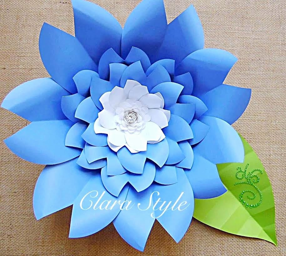 Templates for Paper Flowers Unique Paper Flower Template Paper Flower Wall Diy Paper Flower