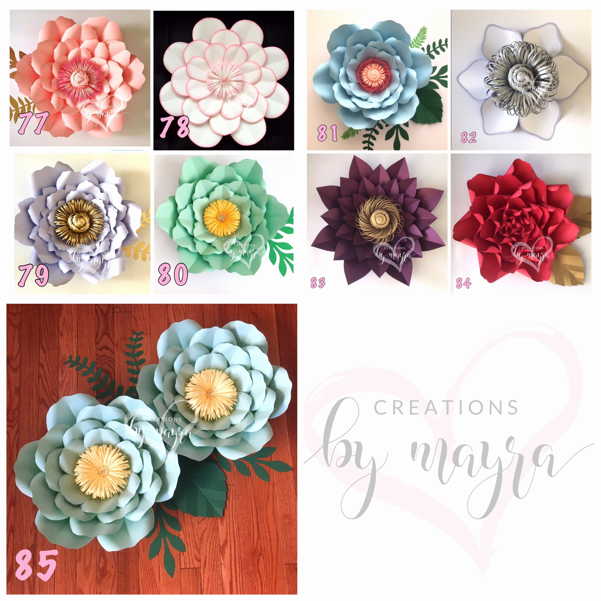 Templates for Paper Flowers Unique Pdf Paper Flower Templates Diy Paper Flowers Price is