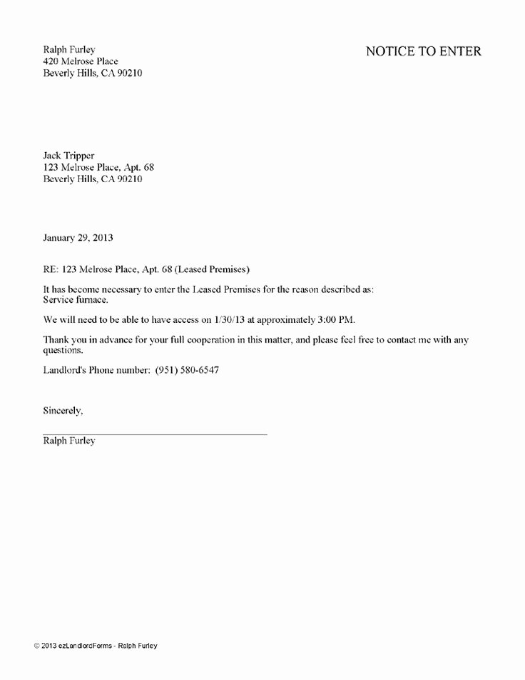 Tenant Letter to Landlord Awesome Landlord Tenant Notices – Rental Property Notices