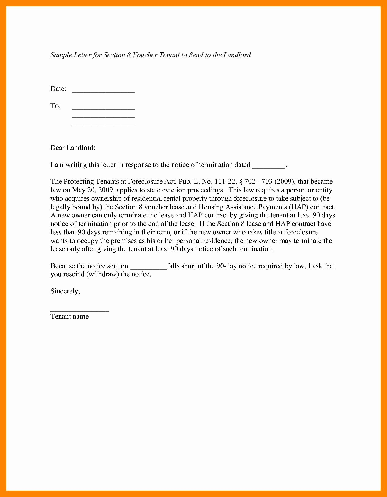 Tenant Letter to Landlord New Landlord Notice Letter to Tenant Template Examples