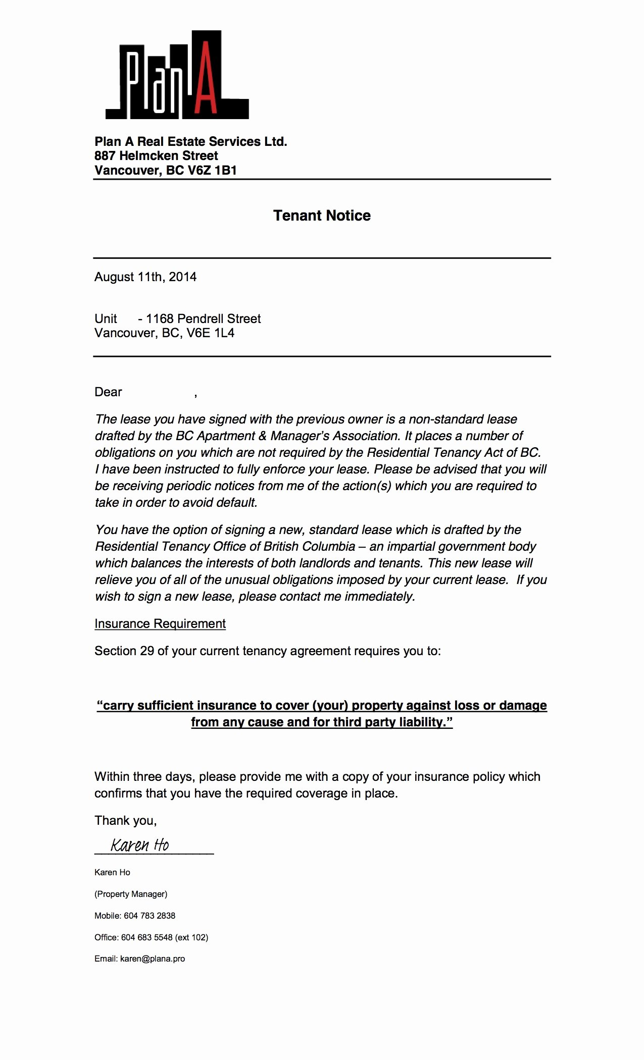 Tenant Letter to Landlord Unique Greedeviction 1168pendrell