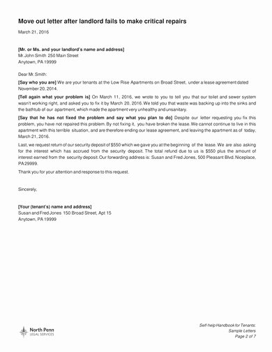 Tenant Move Out Letter Best Of Free 9 Tenant Move Out Letter Examples [download now