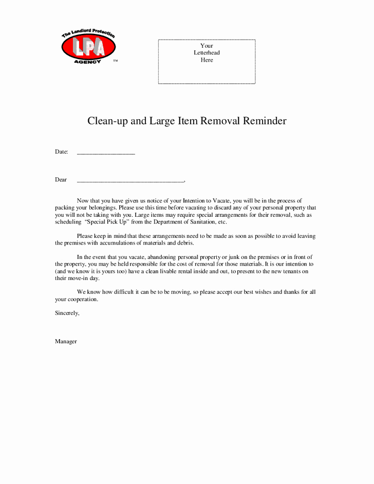 Tenant Move Out Letter Elegant Best S Of Dog Clean Up for Letters to Tenants