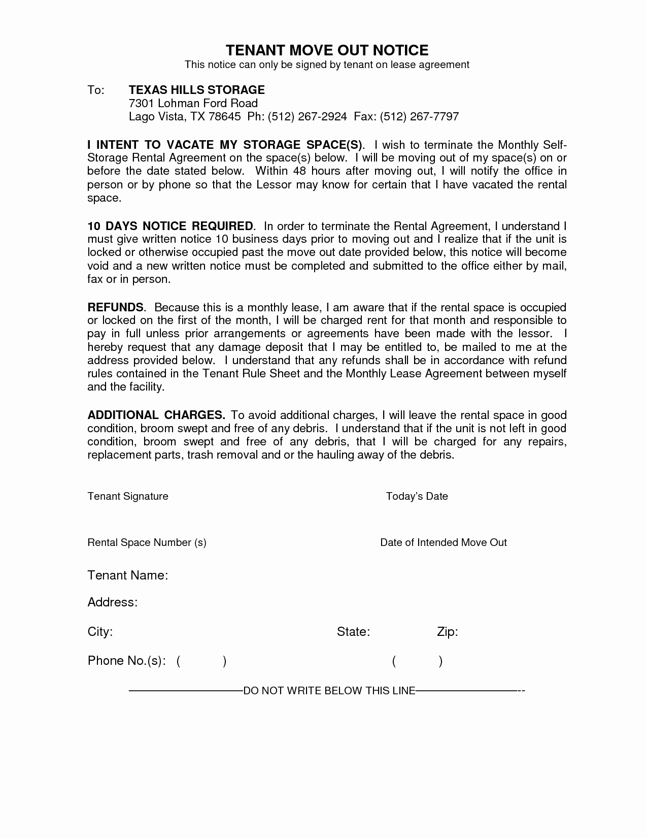 Tenant Move Out Letter Elegant Best S Of Move Out Notice to Tenant Template 30 Day