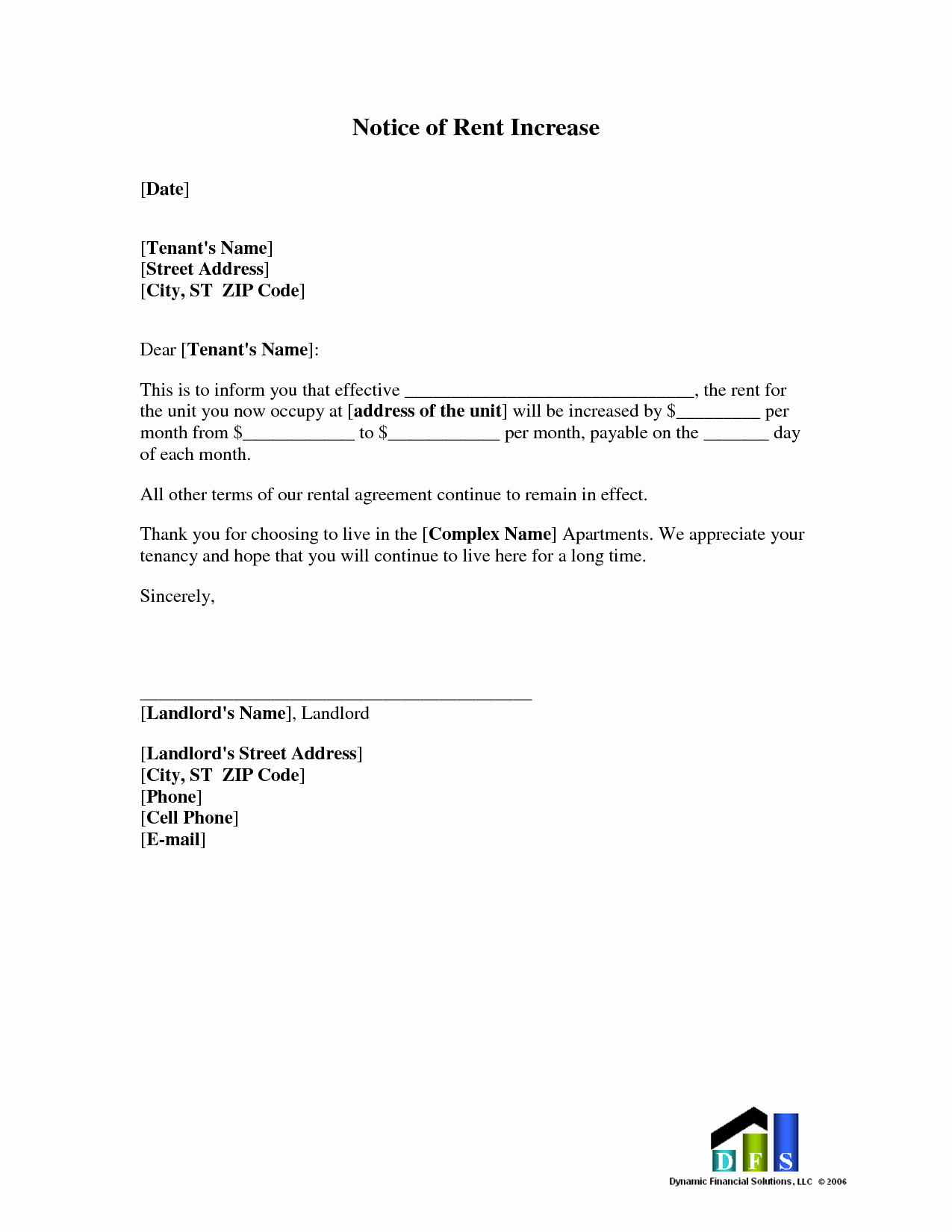 Tenant Rent Increase Letter New Best S Of Rent Increase Letter to Tenant In