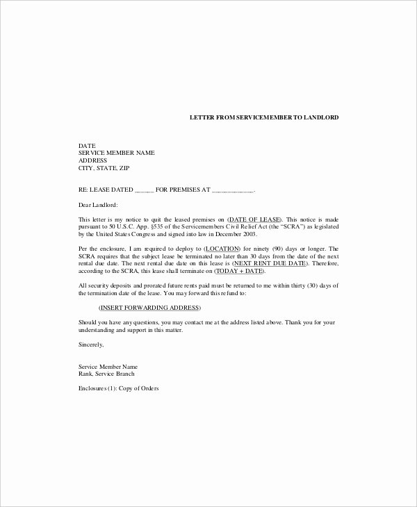 Terminating A Lease Letter Awesome 6 Lease Termination Templates Free Sample Example
