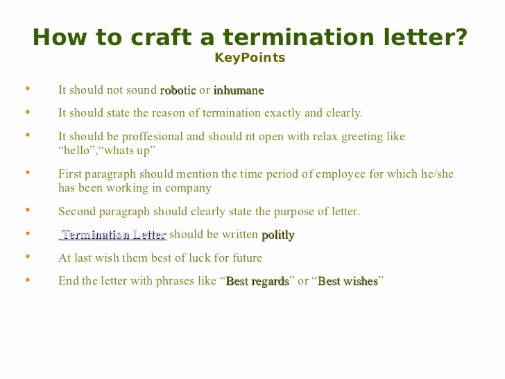 Termination for Cause Letter Lovely Termination Letter
