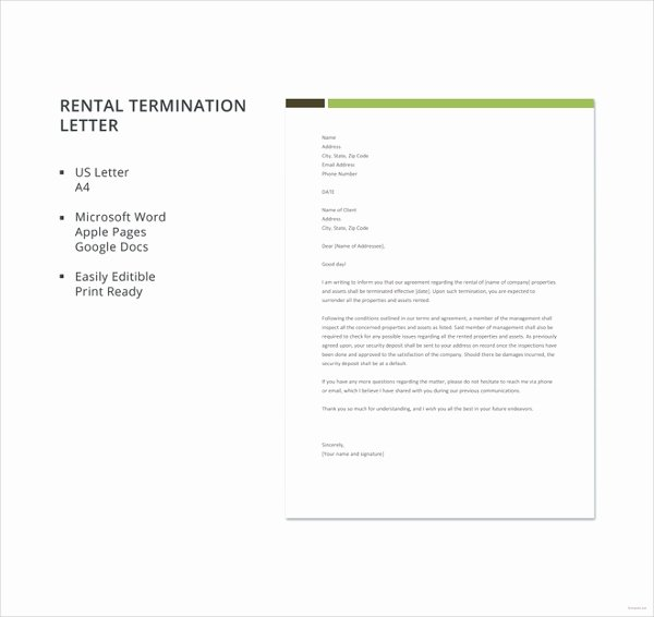 Termination Letter Sample Free Beautiful Free Termination Letter Templates 38 Free Word Pdf