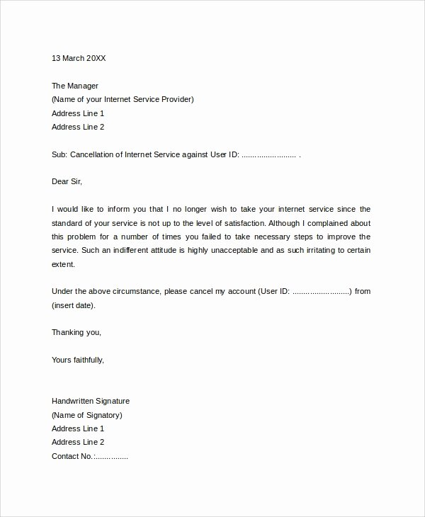 Termination Of Services Letter Luxury 10 Sample Service Termination Letters Pdf Doc Apple