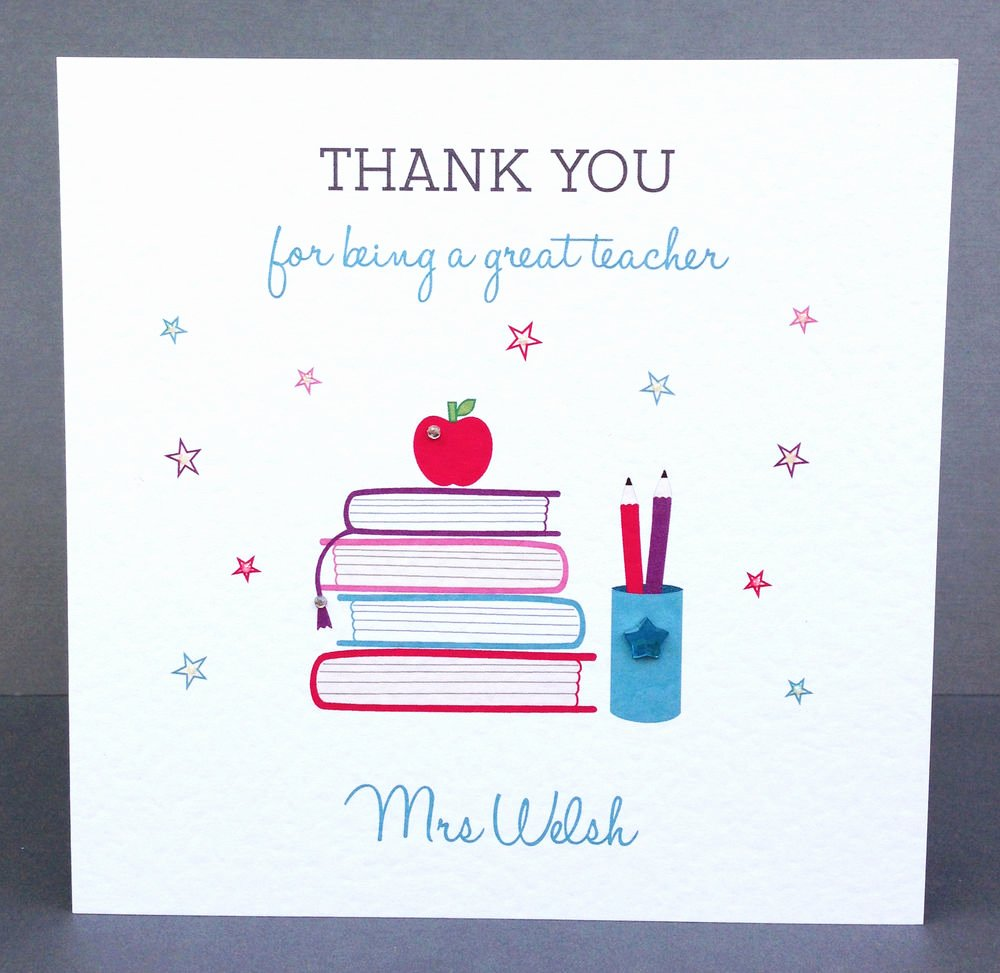 Thank You Card for Mentor Awesome Handmade Personalised Teacher Thank You Card Teaching