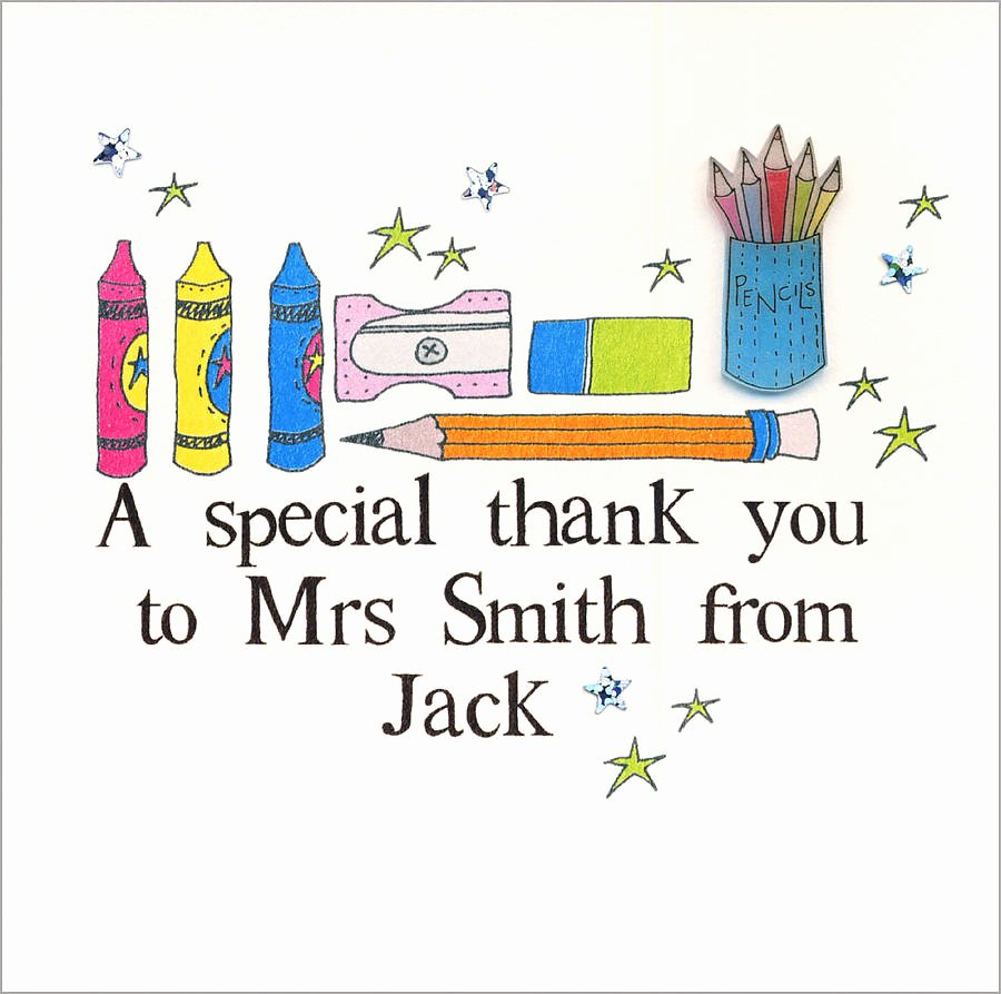 Thank You Card for Mentor Beautiful Personalised Teacher Thank You Card by Eggbert & Daisy