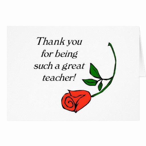 Thank You Card for Mentor Beautiful Teacher Thank You Card