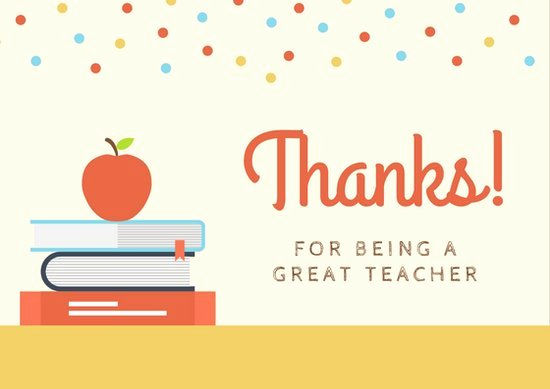 Thank You Card for Mentor Best Of Customize 58 Teacher Thank You Card Templates Online Canva