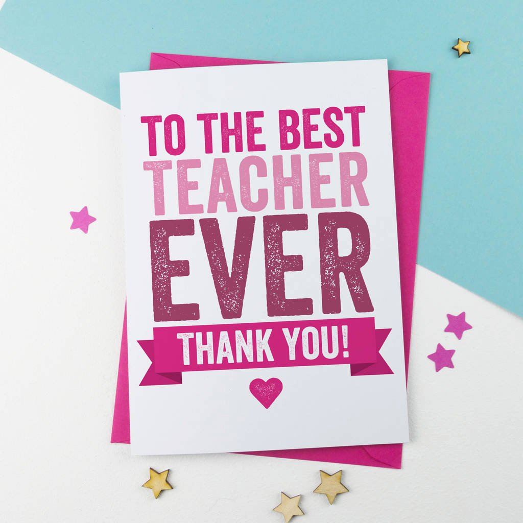 Thank You Card for Mentor Best Of Thank You Teacher Card by A is for Alphabet