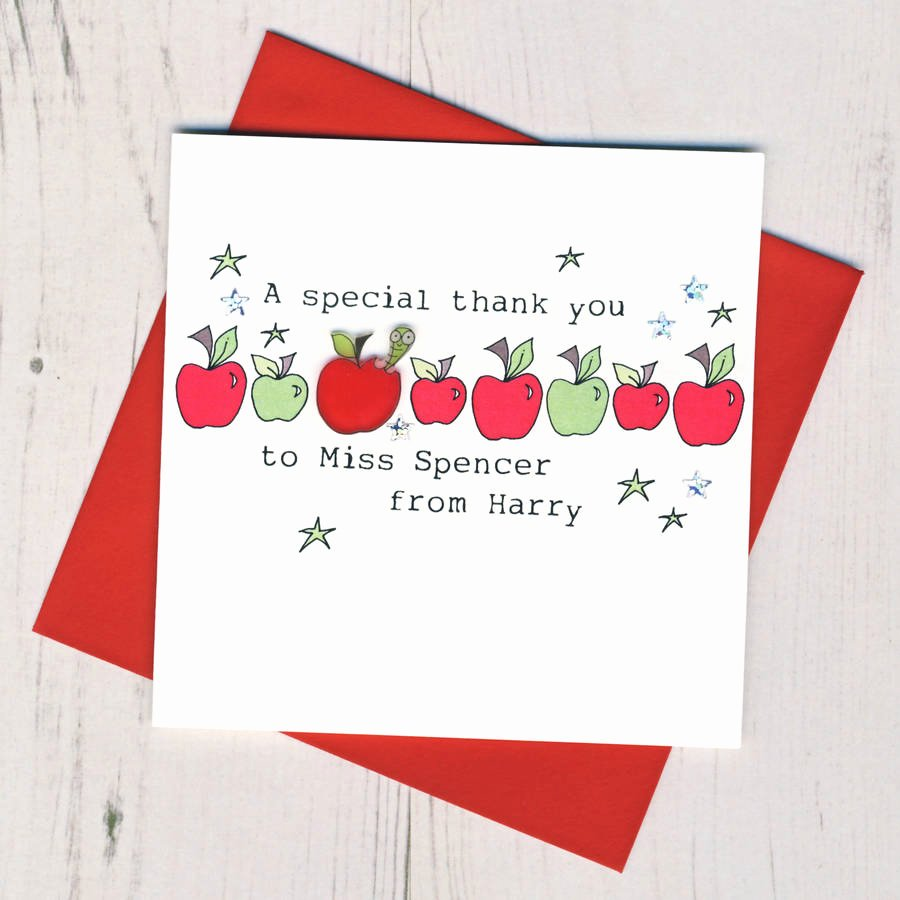 Thank You Card for Mentor Fresh Personalised Teacher Thank You Card by Eggbert & Daisy