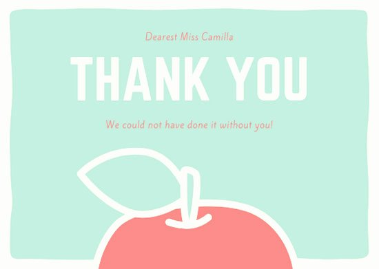 Thank You Card for Mentor Lovely Customize 36 Teacher Thank You Card Templates Online Canva