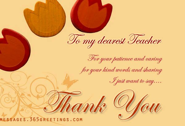 Thank You Card for Mentor Luxury Thank You Card Wording for Teacher 365greetings