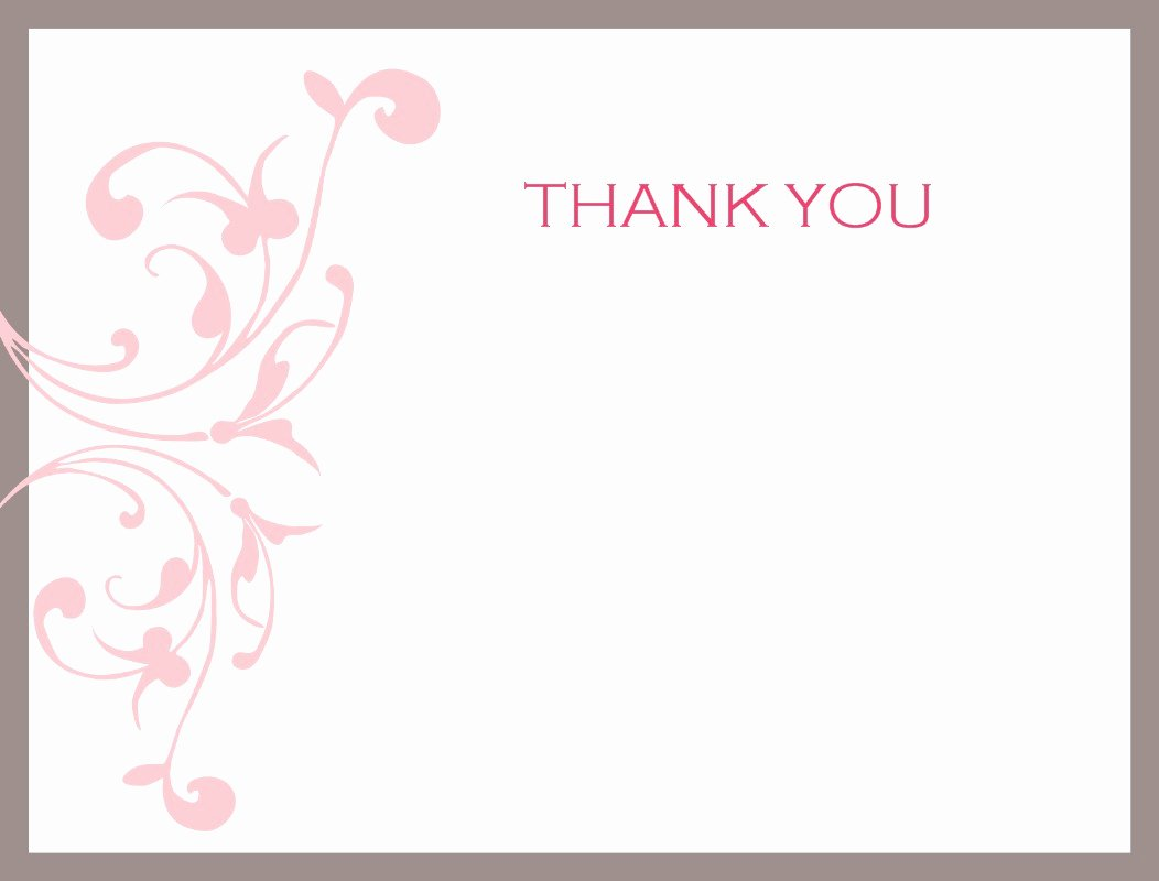 Thank You Card for Mentor Luxury Thank You Template