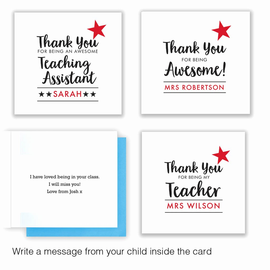 Thank You Card for Mentor New Thank You Teacher Card and Chocolate T by Quirky T