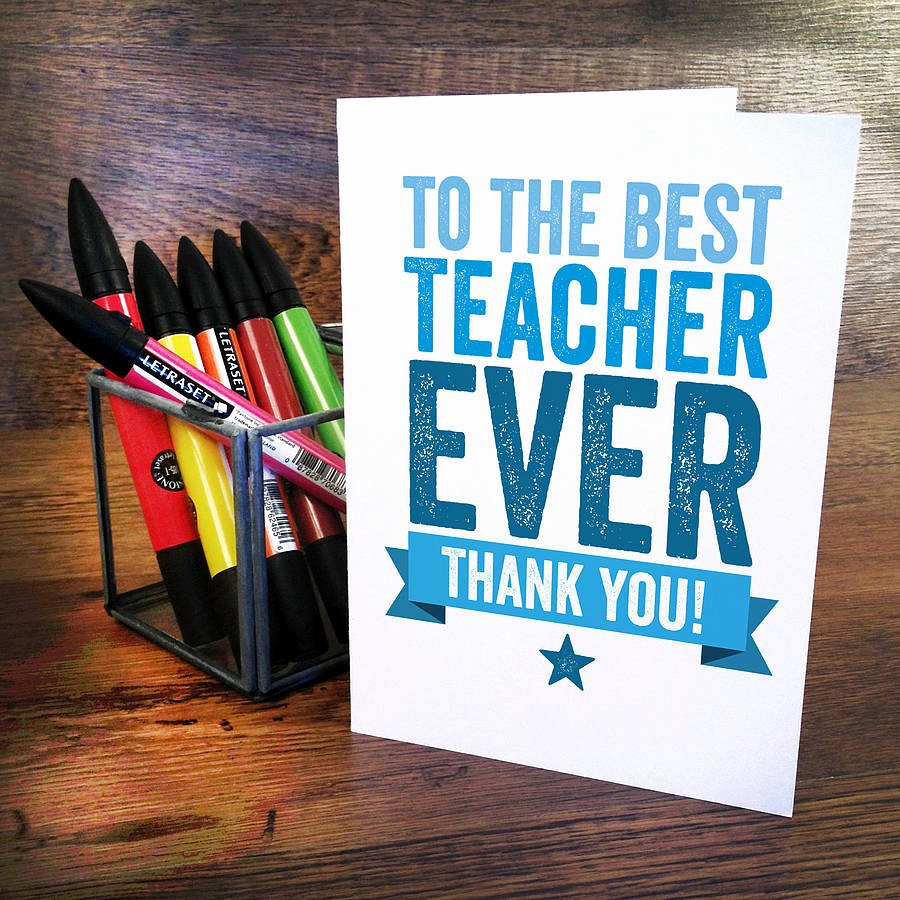 Thank You Card for Mentor New Thank You Teacher Card by A is for Alphabet