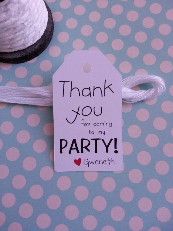 Thank You for Coming Tag Awesome 25 Thank You for Ing to My Party Tags by