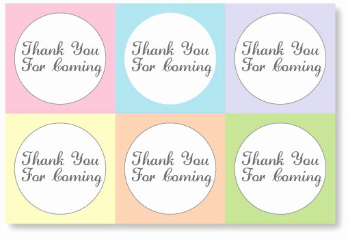 Thank You for Coming Tag Awesome Baby Shower Favor Tag Printables