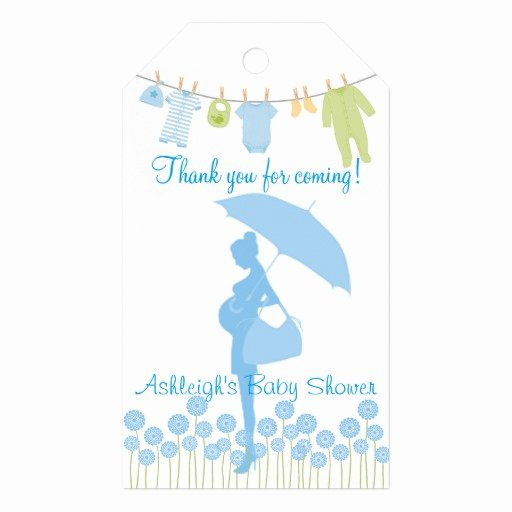 Thank You for Coming Tag Beautiful Thank You for Ing Blue Silhouette Baby Shower Gift