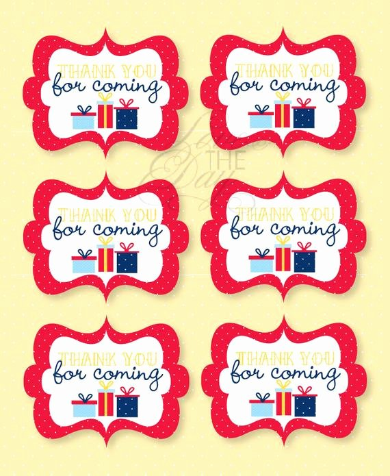 Thank You for Coming Tag Best Of Birthday Party Printable Favor Tags Instant Download by Love