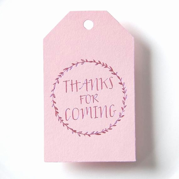 Thank You for Coming Tag Fresh Thanks for Ing Gift Tags Wedding Favor Baby Shower Tag