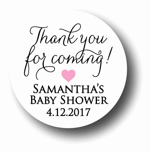 Thank You for Coming Tag Inspirational 30 Baby Shower Personalized Stickers Thank You for