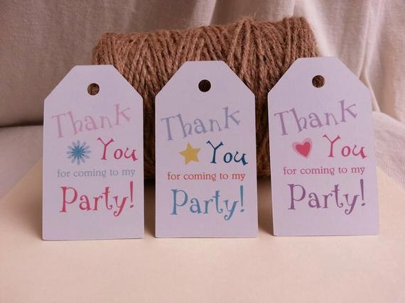 Thank You for Coming Tag Luxury 25 Thank You for Ing to My Party Tags by
