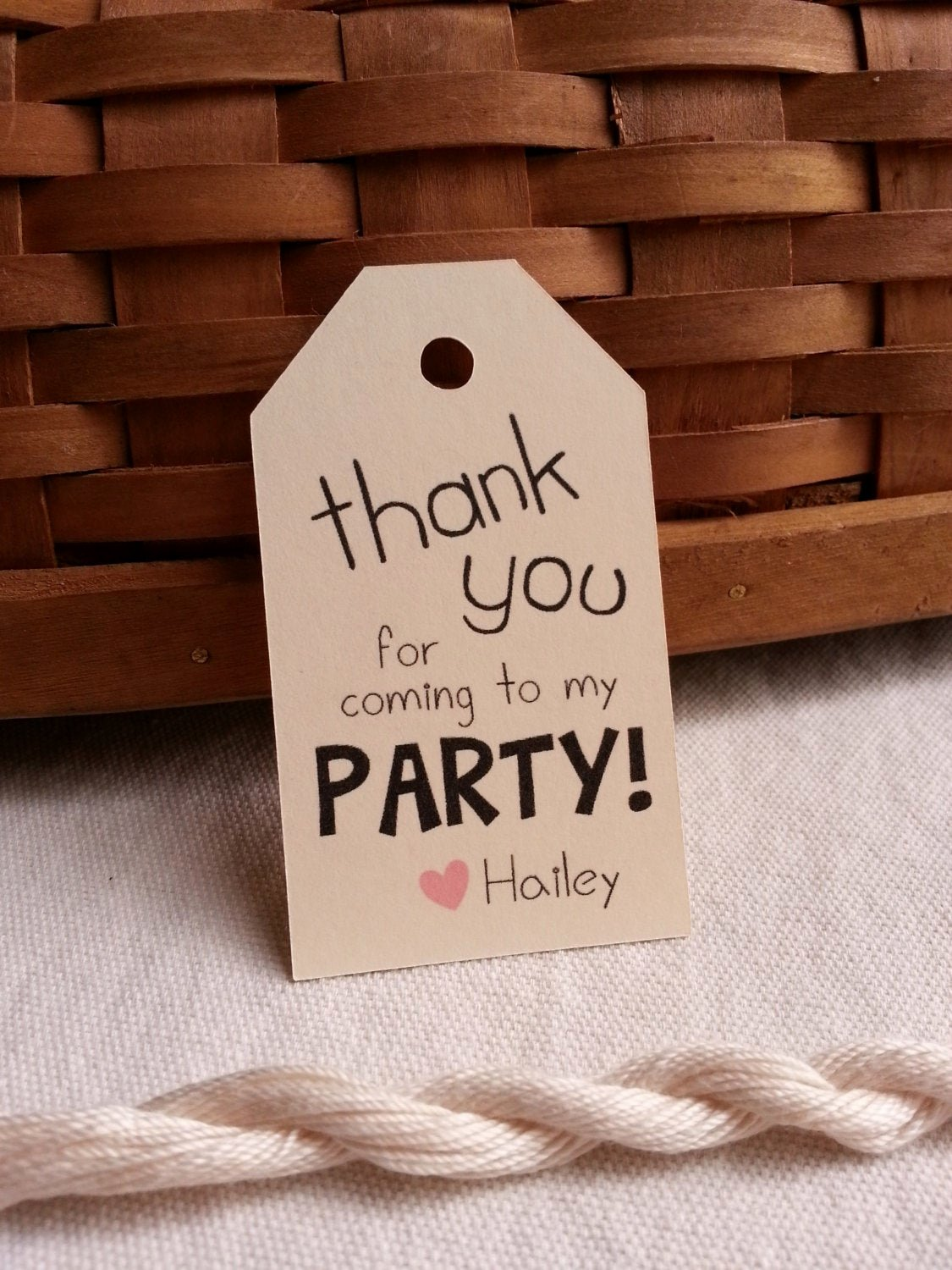 Thank You for Coming Tag New 25 Thank You for Ing to My Party Tags Custom Party Favor