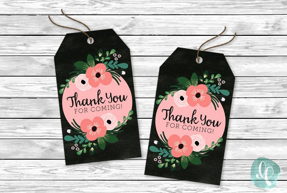 Thank You for Coming Tag New Diy Printable Tags Thank You for Ing