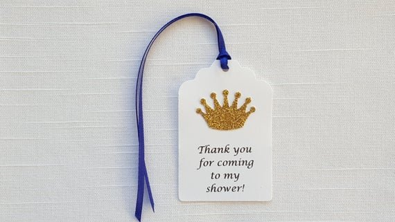 Thank You for Coming Tag New Items Similar to Gold Prince Crown Thank You for Ing