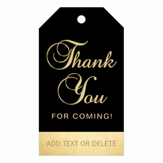 Thank You for Coming Tag New Personalized Black Gold Thank You for Ing Favor Gift