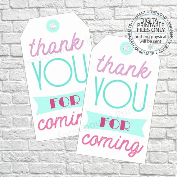 Thank You for Coming Tag New Thank You for Ing Favor Tags Birthday T Tags Thank