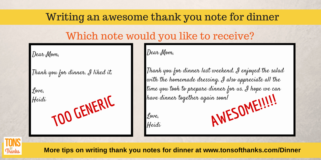 Thank You for Dinner Awesome Write An Awesome Thank You Note to the Host when Invited