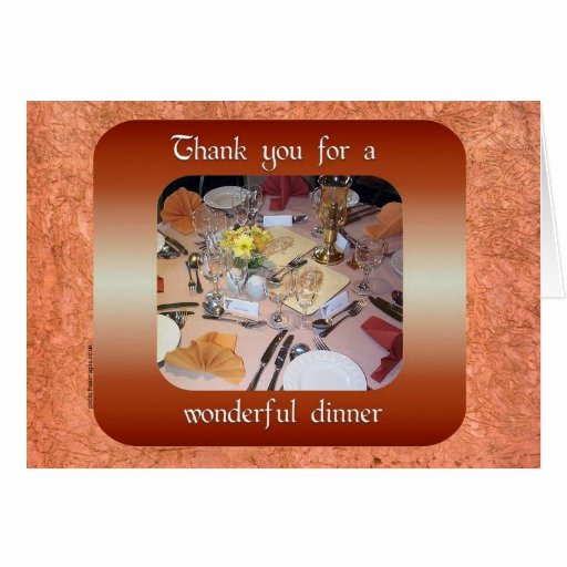 Thank You for Dinner Beautiful Thank You for Dinner Card