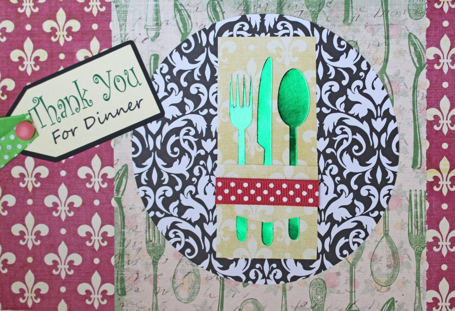 Thank You for Dinner Best Of Thank You for Dinner Card Hostess Card Place Setting