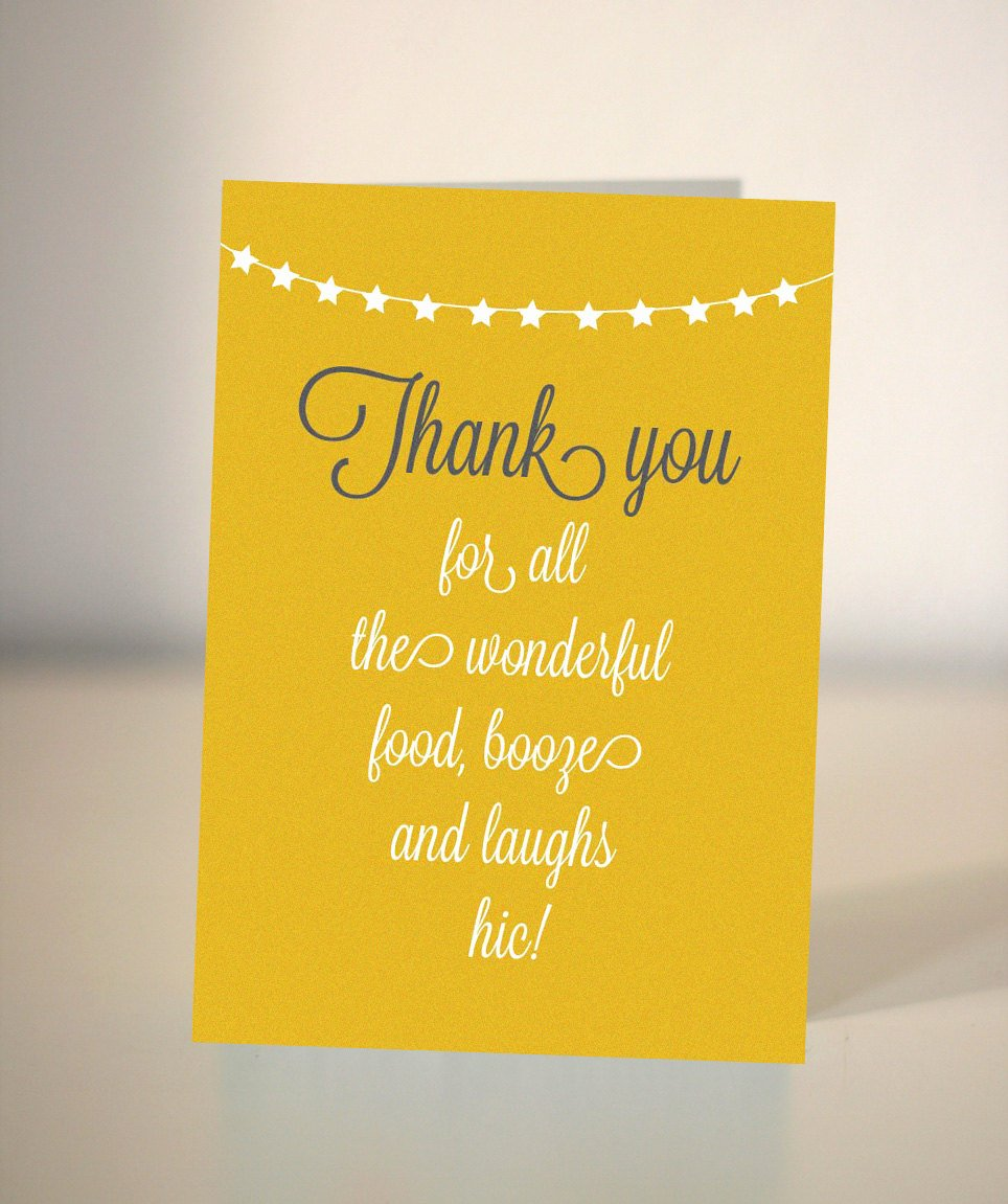Thank You for Dinner Elegant Items Similar to Thank You Card for Dinner Party On Etsy