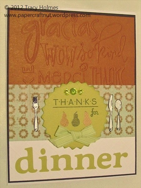 Thank You for Dinner Images Beautiful Thank You Card