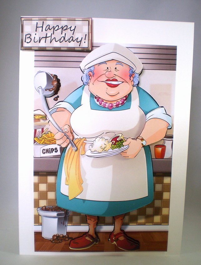 Thank You for Dinner Images Elegant Handmade Decoupage Humorous Dinner Lady Birthda Folksy
