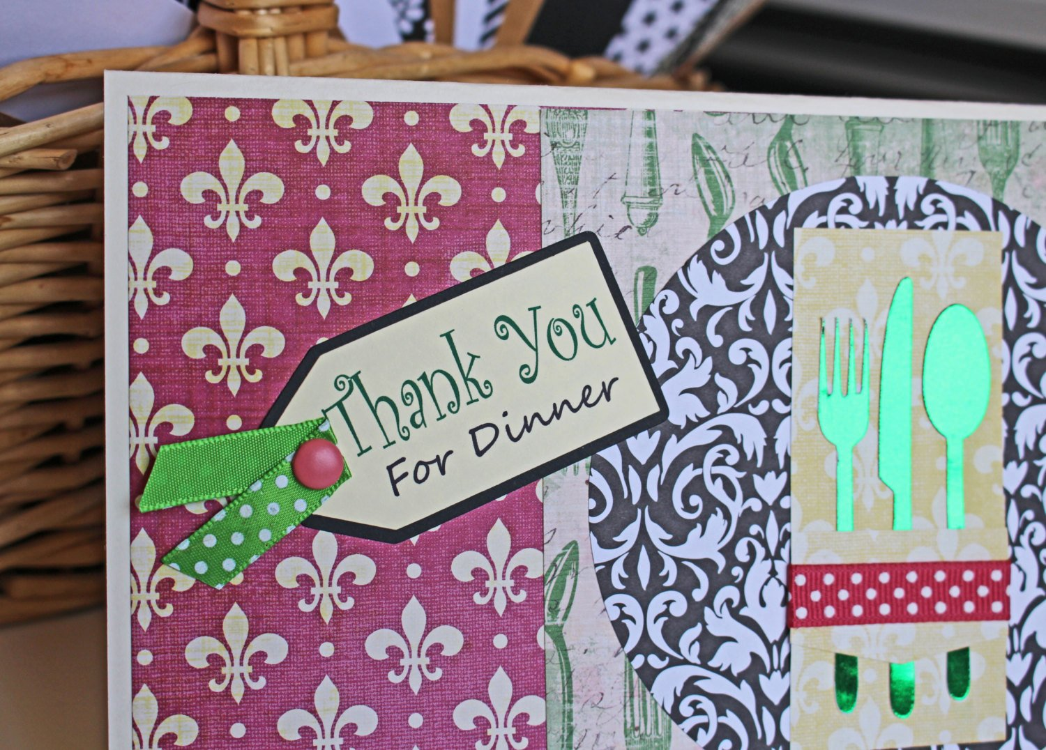 Thank You for Dinner Images Elegant Thank You for Dinner Card Hostess Card Place by