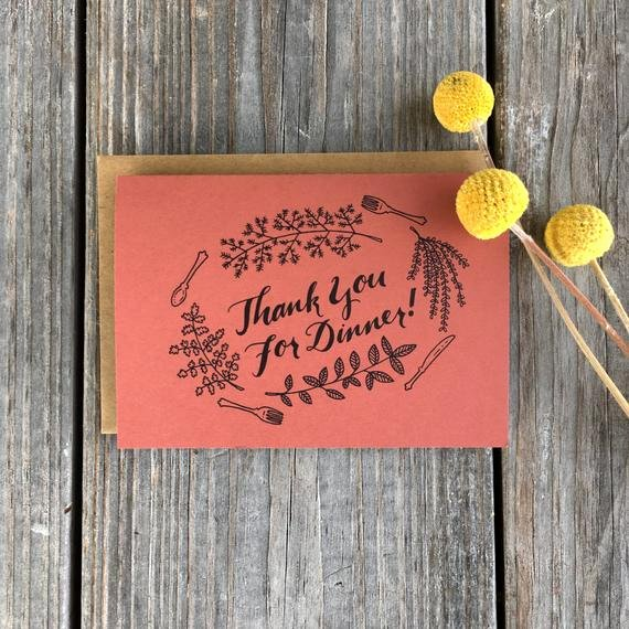 Thank You for Dinner Images Elegant Thank You for Dinner Cards Dinner Thank You by Champaignpaper